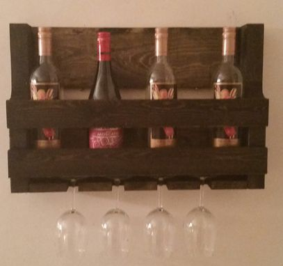 Custom Made Rustic Pallet Style Wine Rack