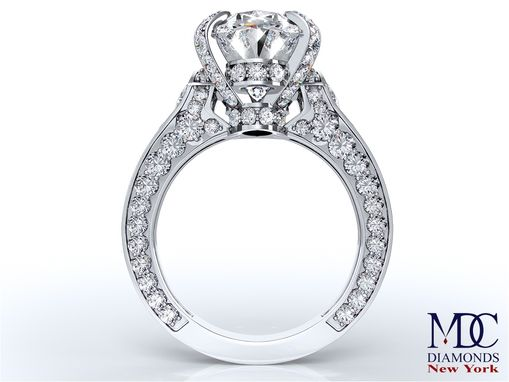 Custom Made Cathedral Engagement Ring