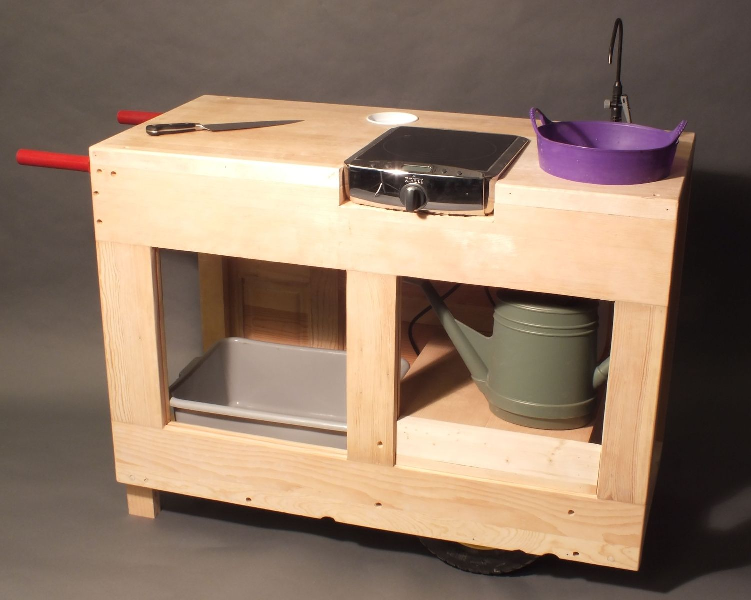 Handmade Custom Wooden Mobile Kitchen Cart by Dysart Design ...
