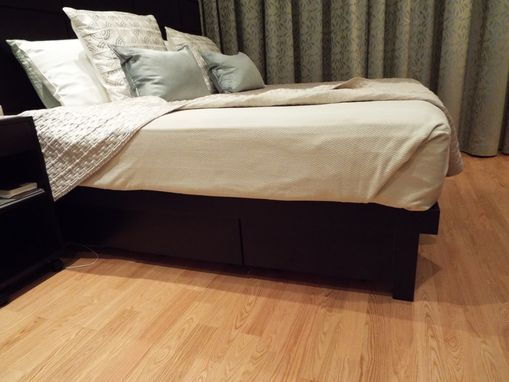 Custom Made Contemporary Walnut Bedroom Set