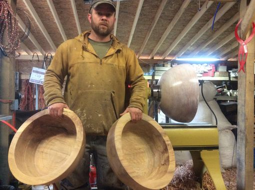 Custom Made Large Woodturned Bowls
