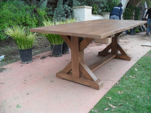 Custom Made Reclaimed Wood Dining Table And 1 Bench