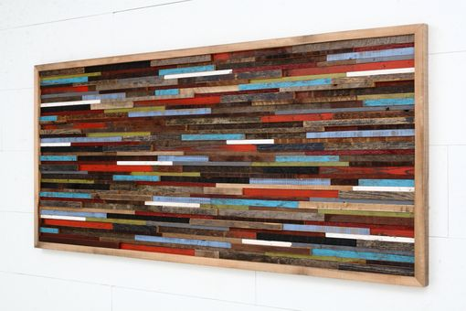 Custom Made Wood Wall Art Made Of Old Reclaimed Barnwood