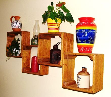 Custom Made Rustic Wall Mounted Wood Display Case By Rustic Furniture Hut