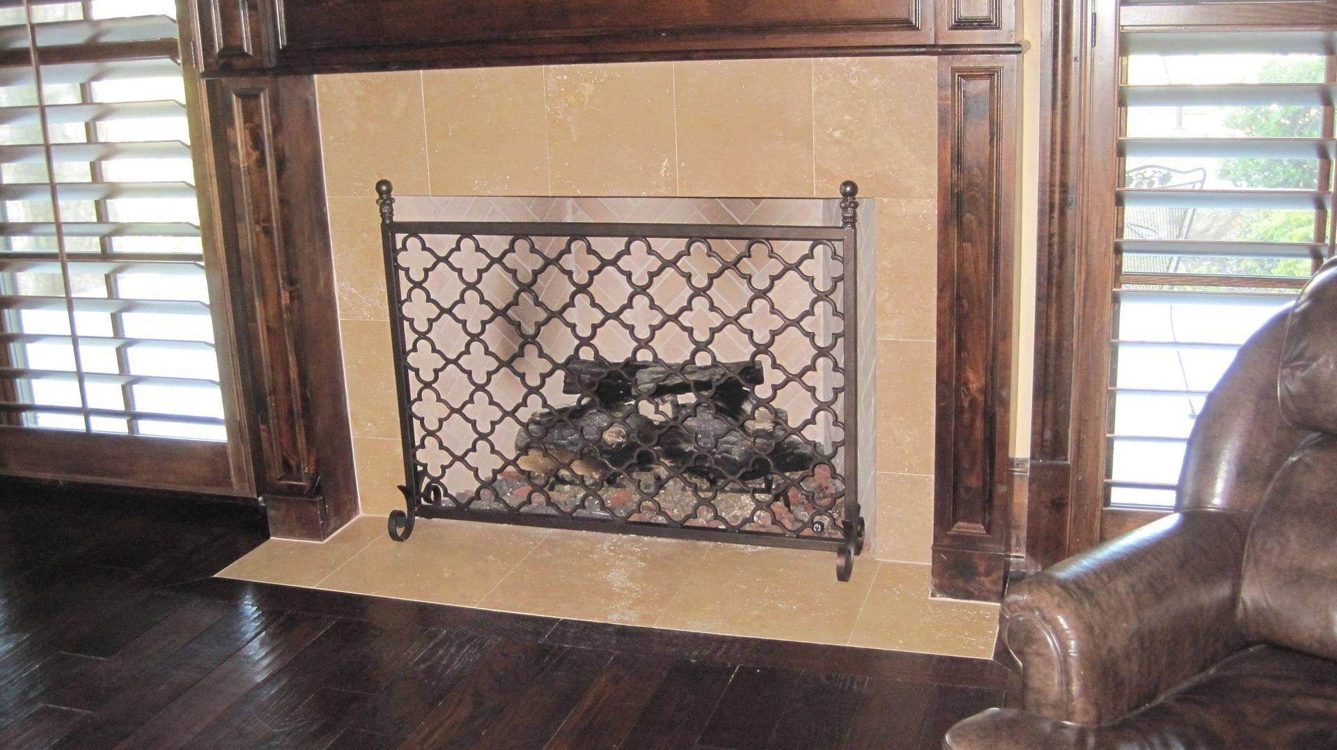 custom metal fireplace screen by garzamade llc custommade com