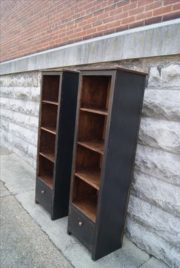 Custom Made Book Shelf With Drawer