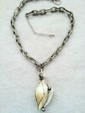 Custom Made Wire Wrapped Shell Statement Necklace