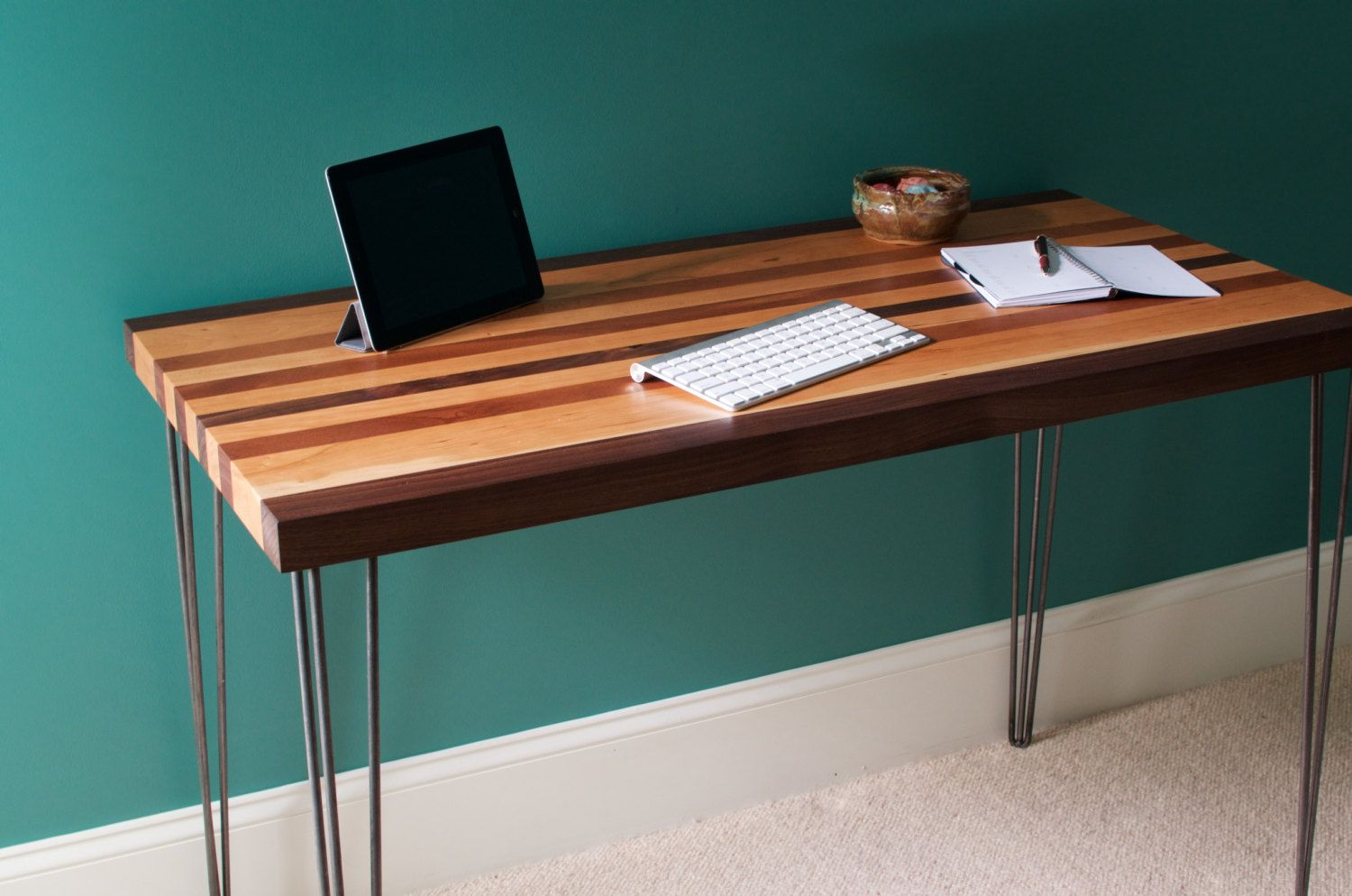 Buy Hand Crafted Mid Century Modern Desk Featuring A Maple