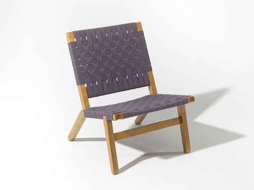 Custom Made Lounge Chair In Cherry