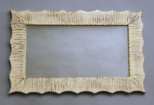 Custom Made Scalloped Mirror