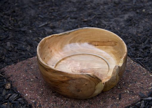 Custom Made Hand Turned Solid Cherry Table Bowl