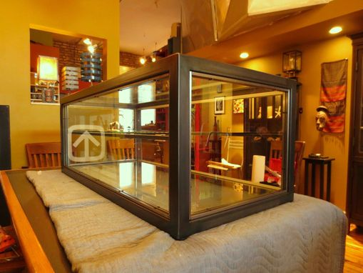 Custom Made Display Case – Glass & Steel Display Case