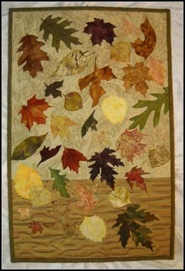 Custom Made Autumn Free Fall Quilted Wall Hanging