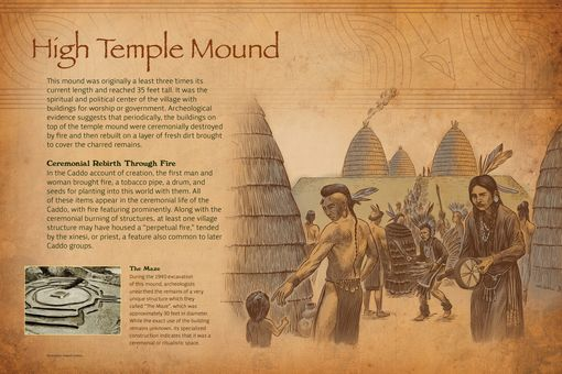 Custom Made Interpretative Exhibit - Caddo Mounds