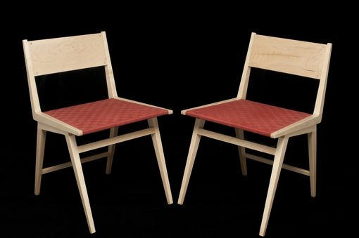 Custom Made K Chair: Danish Modern Dining Chair In Maple