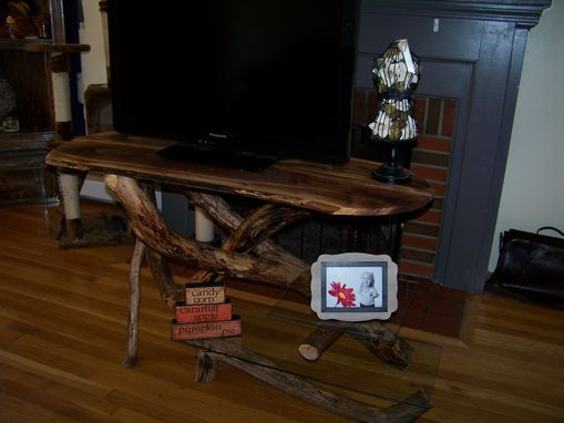 Custom Made Drift Wood Tv Stand