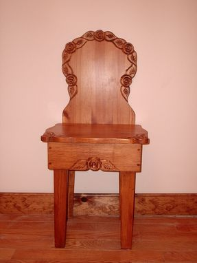 Custom Made Rose Entry Chair, Decorative Chair