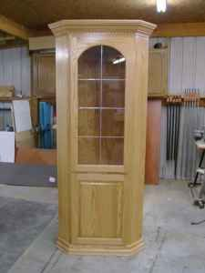 Custom Made Oak Hardwood China Cabinet