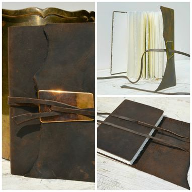 Custom Made Handmade Leather Bound Professional Notebook Journal