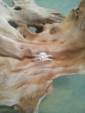 Custom Made 1 Carat Solitaire , Micro Pave Engagement Ring