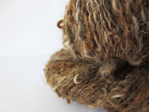 Custom Made Handspun Yarn / Hand Spun Brown Yarn / Handspun Variegated Yarn / Hand Spun Llama Yarn