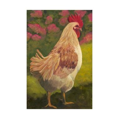 Custom Made Rooster - Framed Fine Art Giclee W/Double Mat - 10% Benefits Animal Charities