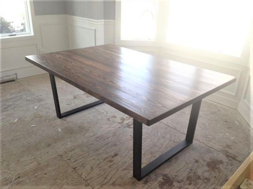 Custom Made Reclaimed Wood Conference Table With Steel Legs