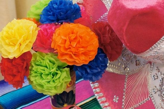 Hand made tissue paper flowers for fiesta parties by princess custom made tissue paper flowers for fiesta parties mightylinksfo Images