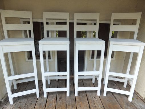 Custom Made Farmhouse Bar Stools