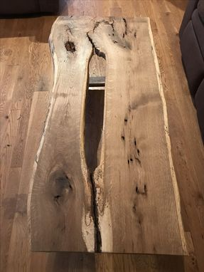 Custom Made Live Edge White Oak Coffee Table