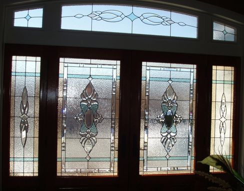 Custom Made Stained Glass, Elegant Front Door Entry System