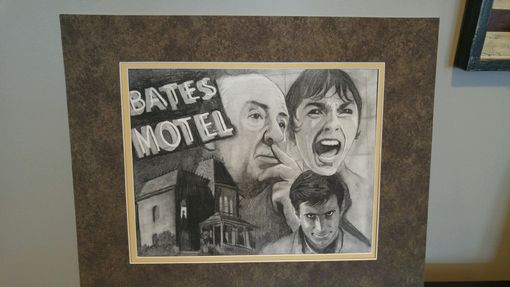 Custom Made Psycho Collage In Charcoal