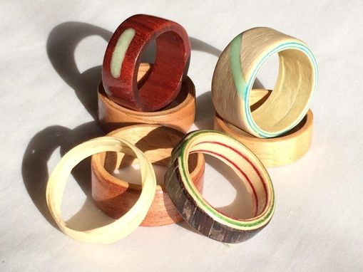 Custom Made Bentwood Or Solid Hardwood Rings