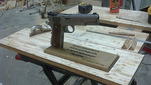 Custom Made Auto Pistol Stand
