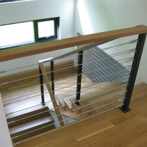 Stainless Cable Oak Railing By Kyle Harrity