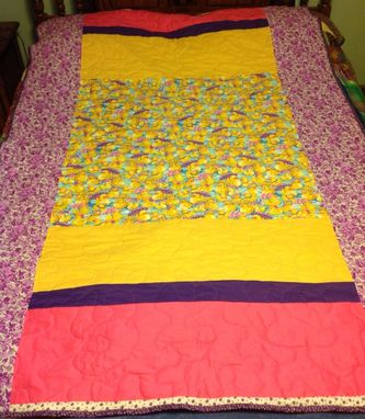 Custom Made Custom Paneled Girl's Quilt