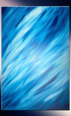 Custom Made Blue Painting By Laffertyart - Original Abstract Art Sale 22% Off