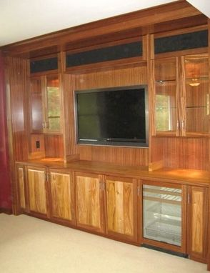 Custom Made Sapele And Canary Entertainment Unit