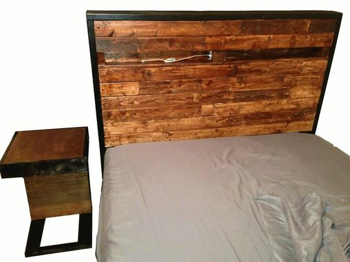 Custom Made Platform Bedframe Matching Headboard And Nightstand