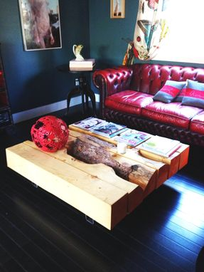 Custom Made Pine Timber Coffee Table
