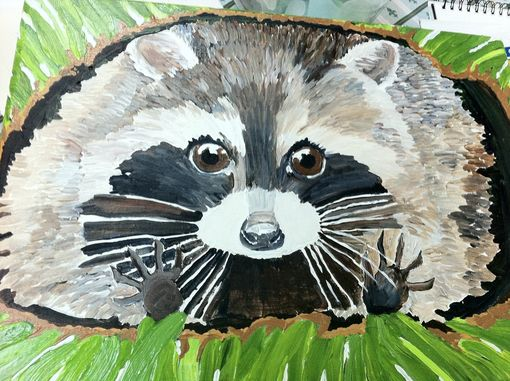 Custom Made Raccoon Stool