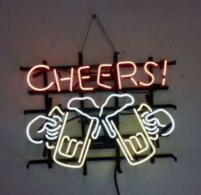 Custom Made Cheers Neon Sign