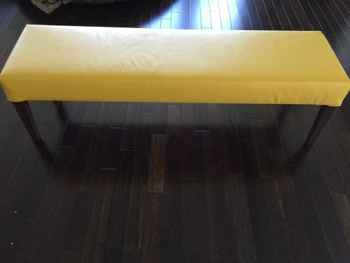 Custom Made Modern Leather Dining Bench