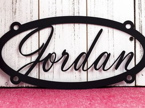 Custom Made Custom Name Metal Sign | Metal Wall Art | Child Name Sign | Custom Metal Sign | Oval