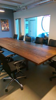 Custom Made Reclaimed Doug Fir Conference Desk