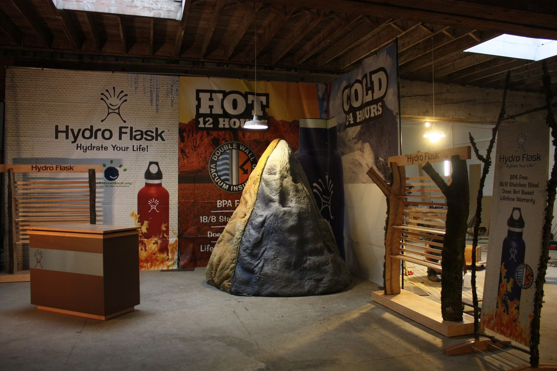 Exhibition Booth Materials : Handmade custom trade show booth for hydroflask re