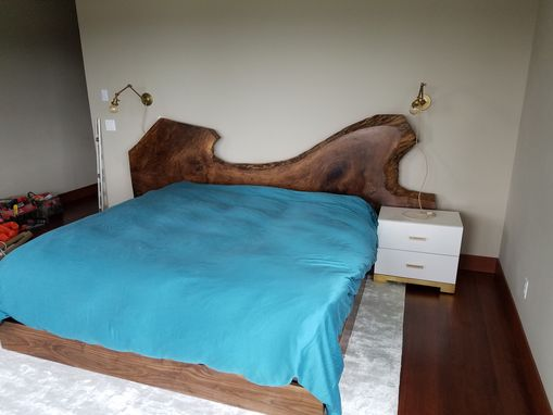 Custom Made Bastogne Walnut Headboard