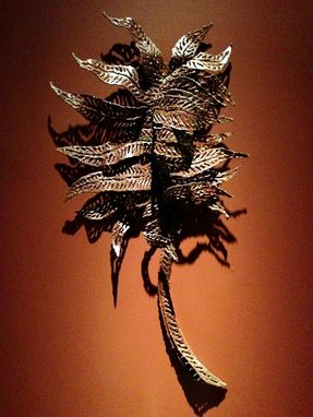 Custom Made Cut Steel Palm Wall Sculpture