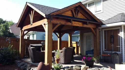 Hand Crafted Cedar Craftsman Patio Cover Kit By Bird Boyz Builders