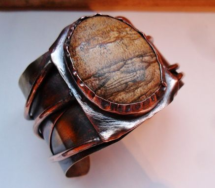Custom Made Picture Jasper Cuff